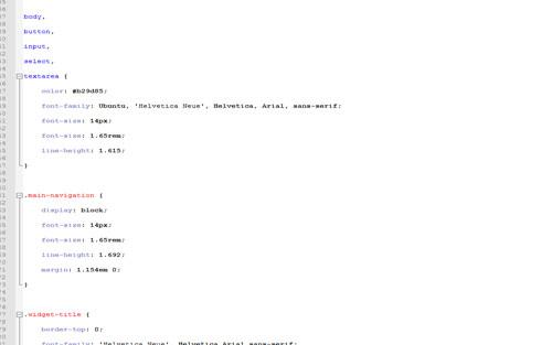 Sample CSS