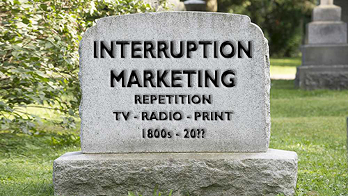 Interruption Marketing Tombstone